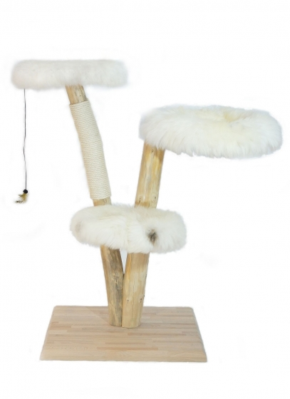 designkratzbaum lykka natur holz echtholz. Black Bedroom Furniture Sets. Home Design Ideas