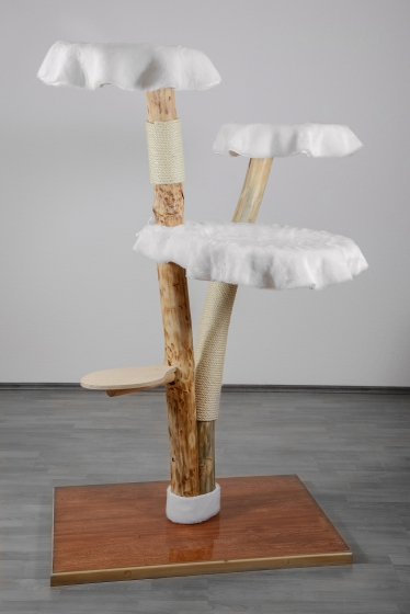 naturkratzbaum echtholz exklusiv modellreih esra. Black Bedroom Furniture Sets. Home Design Ideas