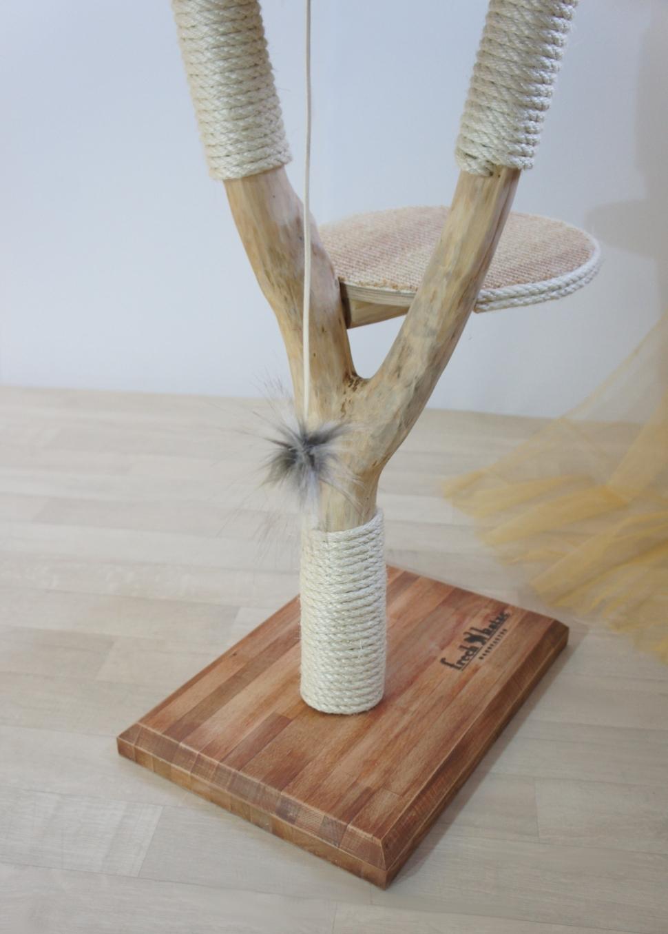 designkratzbaum grip, natur, holz, echtholz,
