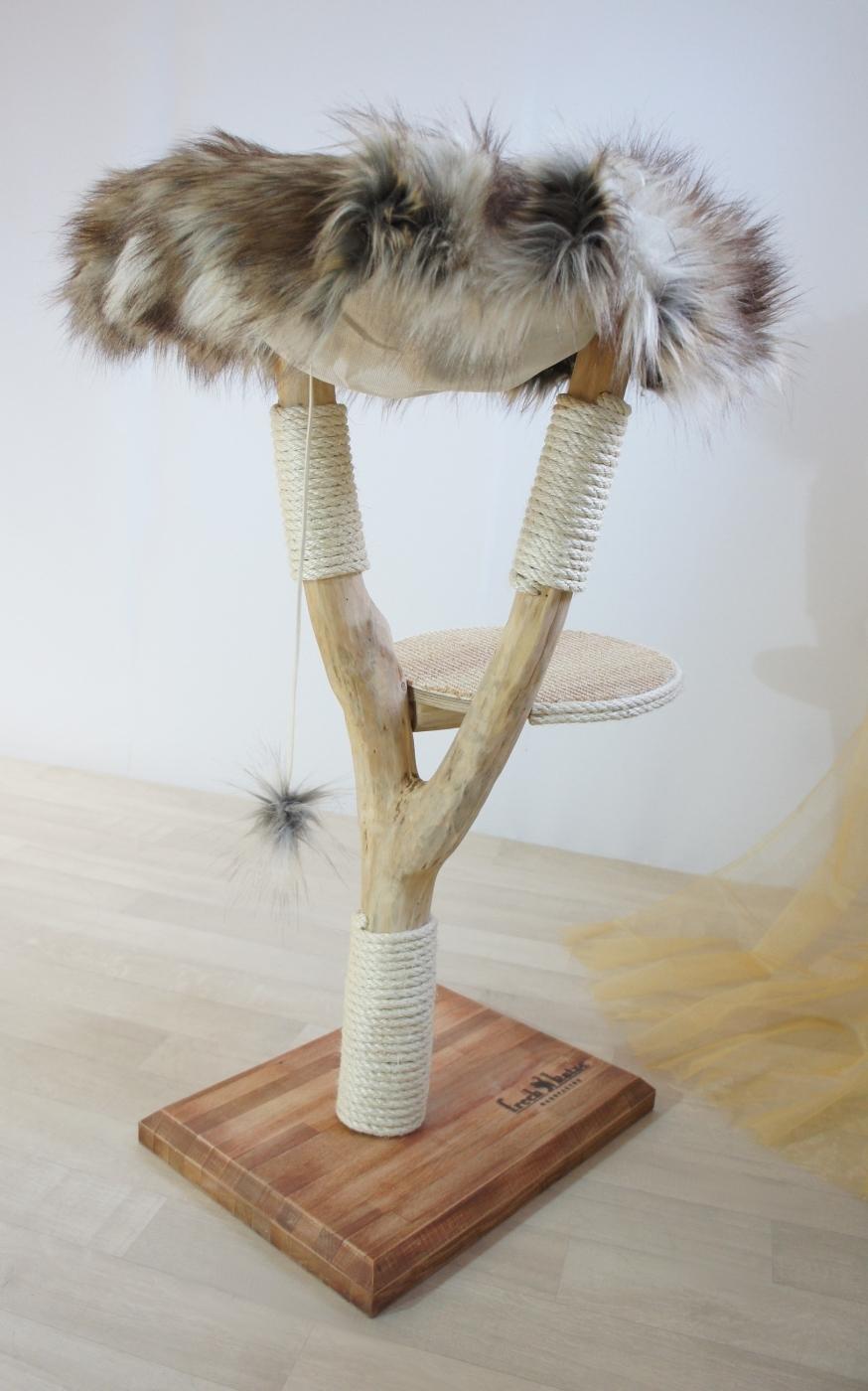 natural wood cat tree - simba - - frechkatze.de - naturkratzbaum