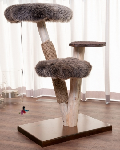 Natural wood cat tree - Lupus -
