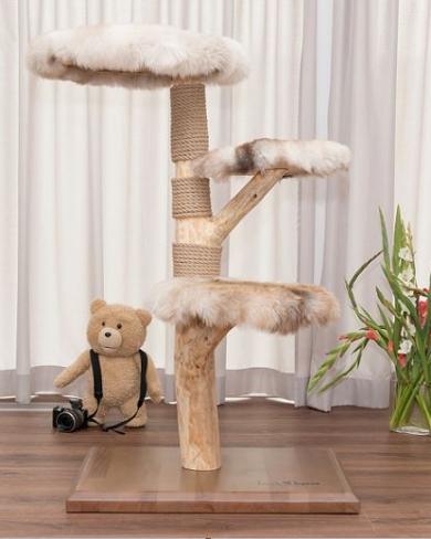 Natural wood cat tree - Summer -