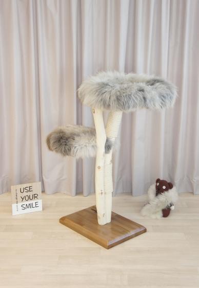 Natural wood cat tree  - Calm -