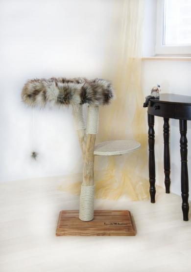 Natural wood cat tree - Simba -