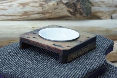 Fressnapfhalter single smoked oak