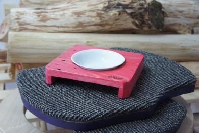 Fressnapfhalter single rosé vintage