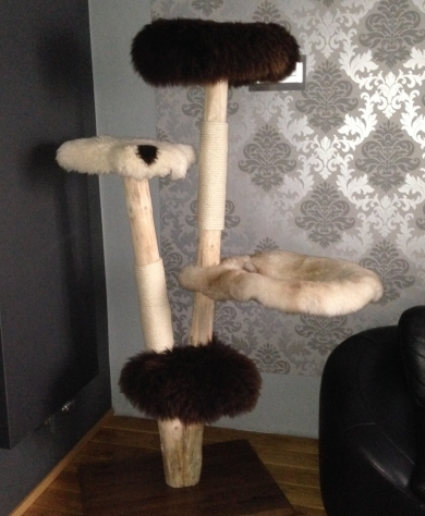 Natural wood cat tree - Barney -
